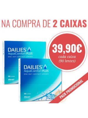 Dailies AquaComfort Plus (90 lentes) - 2 caixas